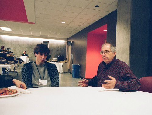 Adam D'Angelo with Steven Levy