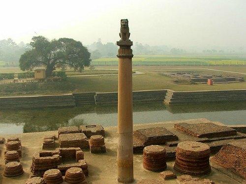 Ashoka Pillar of the Mauryan Empire