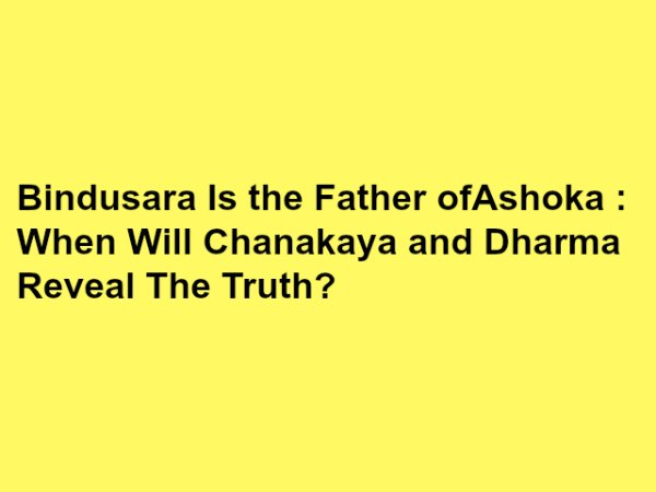 ashoka and bindusara relationship test