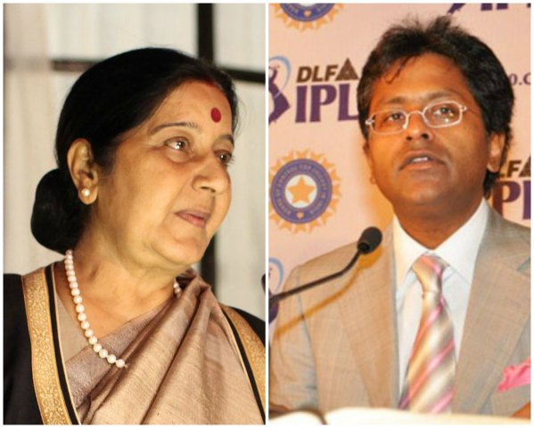 Sushma Swaraj Lalit Modi Visa Controversy