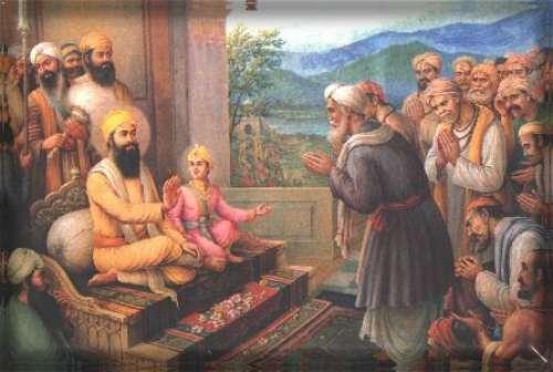 Guru Tegh Bahadur and Aurangzeb