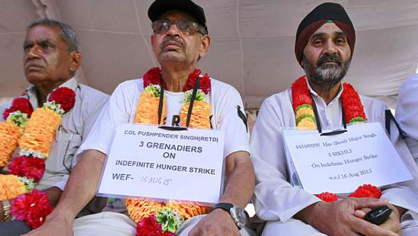 OROP Veterans Protest & Demands Against BJP Govt
