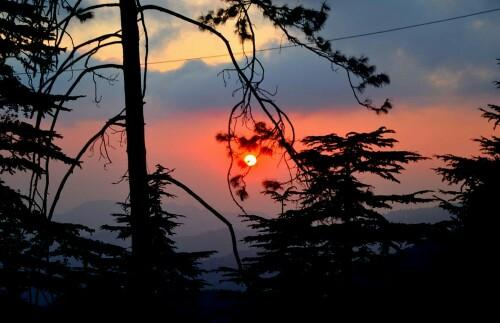 kurfi-shimla-tourist-places-hill-station-sunset