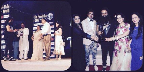 gurmeet-ram-rahim-singh-dadsaheb-phalke-foundation-award-2016