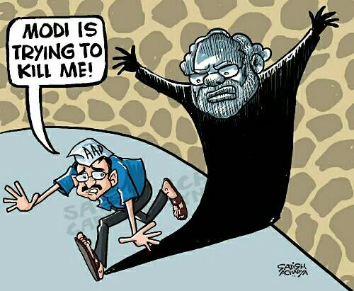 arvind-kejriwal-vs-narendra-modi-cartoons