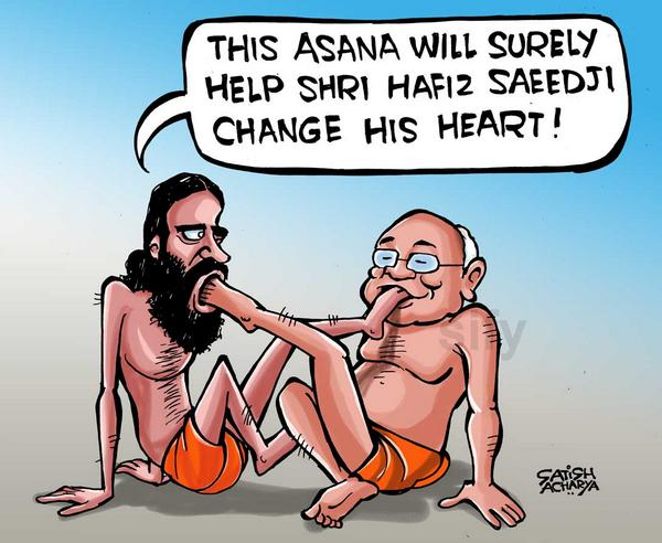 hafiz-saeed-baba-ramdev-cartoon