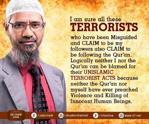 Dr Zakir Naik Quotes On Terrorism Islam Dhaka Attack National