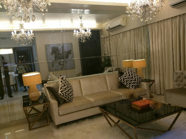 The Living Room at Omkar Meridia
