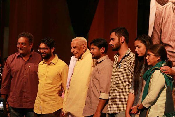 JNU student activists - Shehla Rashid, Umar Khlaid, Kanhaiya Kumar