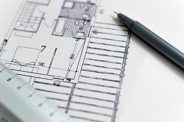 floor plan of an under-construction flat