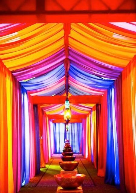 wedding entrance drape style