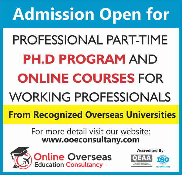Part-time PhD OOEC Education Consultancy